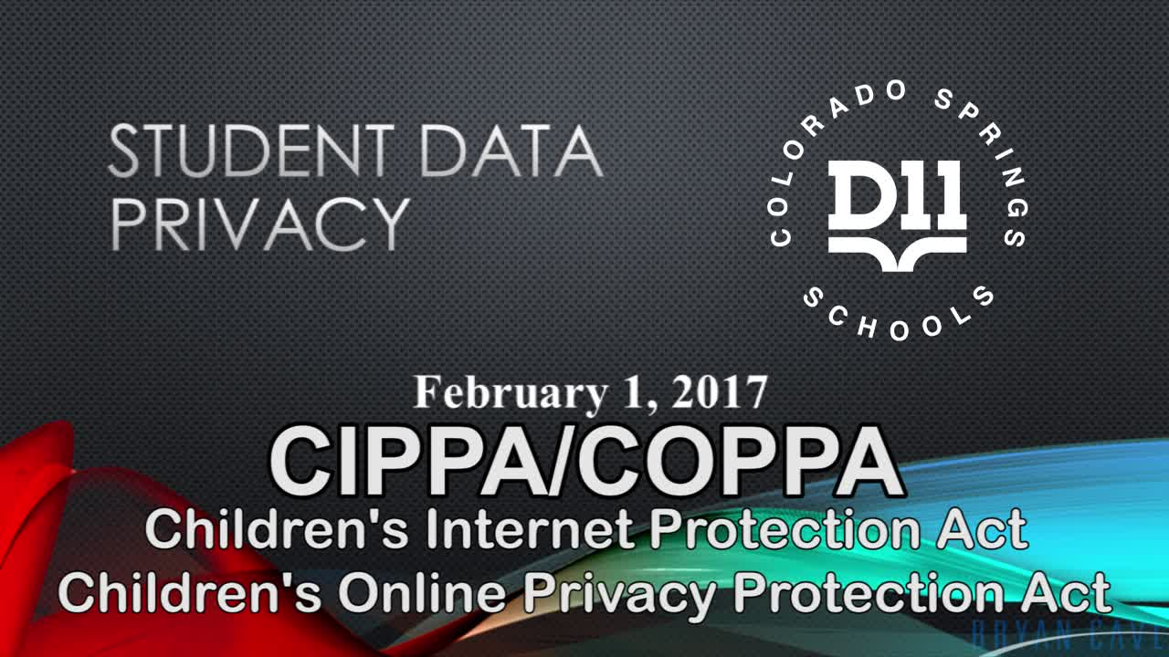 Student Data Privacy - CIPA/COPPA