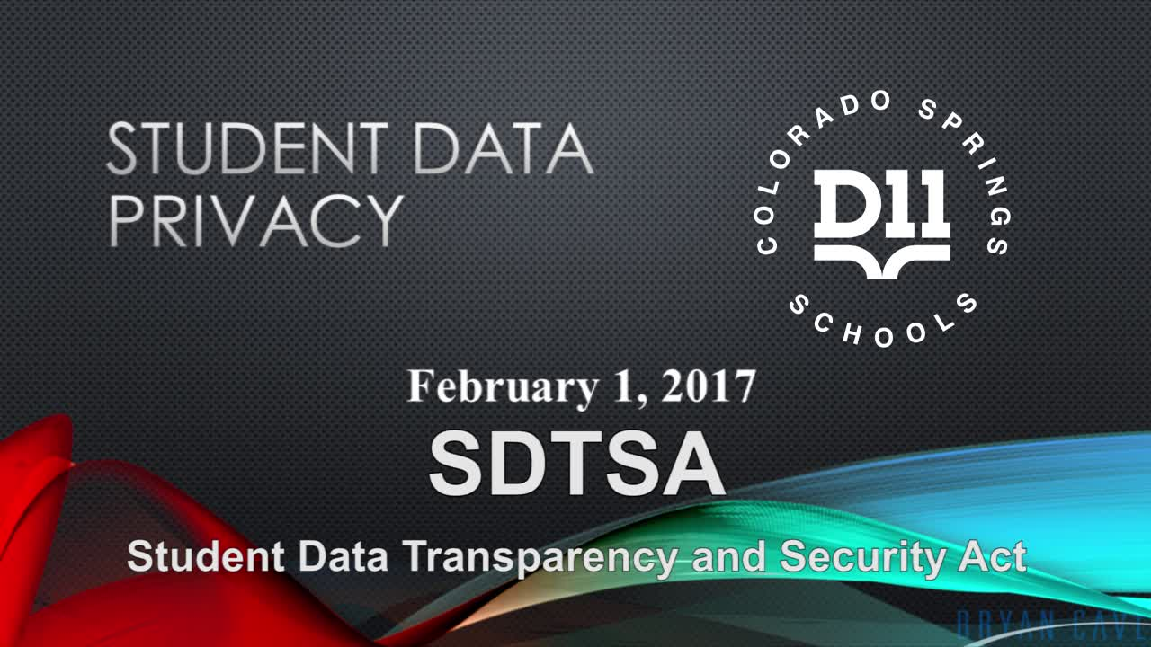 Student Data Privacy - SDTSA